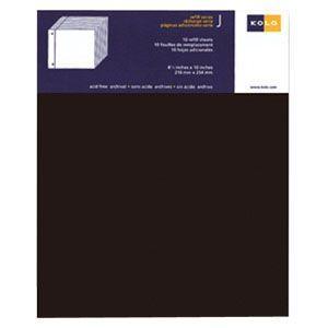 アルバム コロ(KOLO) ニューバリー Newbury 台紙 リフィール ブラック 10セット No300-204010|nomado1230