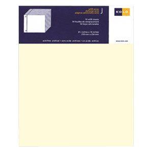 アルバム コロ(KOLO) ニューバリー Newbury 台紙 リフィール ホワイト 10セット No300-204110|nomado1230