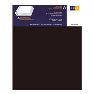 アルバム コロ(KOLO) ニューポート Newport 8.5×11インチ 台紙 リフィール ブラック 5セット No300-22005|nomado1230