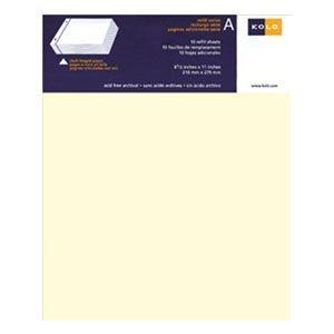 アルバム コロ(KOLO) ニューポート Newport 8.5×11インチ 台紙 リフィール ホワイト 5セット No300-22015|nomado1230