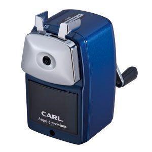 手動鉛筆削り カール事務器 鉛筆削器 ブルー エンゼル5 プレミアム A5PR-B|nomado1230