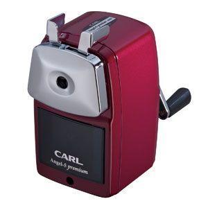 手動鉛筆削り カール事務器 鉛筆削器 レッド エンゼル5 プレミアム A5PR-R|nomado1230