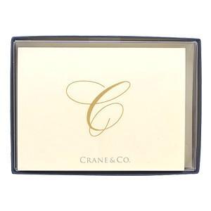 crane & co. カード クレイン(CRANE&CO.) イニシャルカードセット 10セット入 C 2セット CF13C1|nomado1230