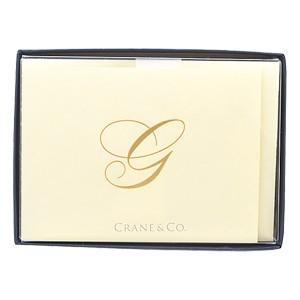 crane & co. カード クレイン(CRANE&CO.) イニシャルカードセット 10セット入 G 2セット CF13G1|nomado1230