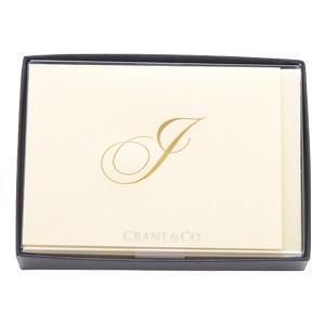 crane & co. カード クレイン(CRANE&CO.) イニシャルカードセット 10セット入 I 2セット CF13I1|nomado1230