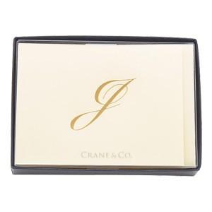 crane & co. カード クレイン(CRANE&CO.) イニシャルカードセット 10セット入 J 2セット CF13J1|nomado1230
