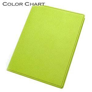 メモカバー 革 カラーチャート Mサイズ メモ ペアグリーン AA0240|nomado1230