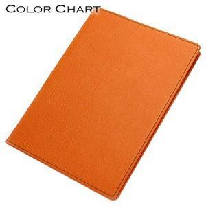 メモカバー 革 カラーチャート Mサイズ メモ サンセットオレンジ AA0241|nomado1230