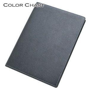 メモカバー 革 カラーチャート Mサイズ メモ ネイビーブルー AA0244|nomado1230