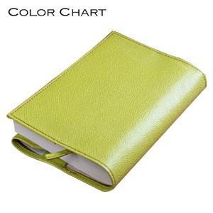 ブックカバー 革 カラーチャート ブックカバー ペアグリーン AA2840|nomado1230