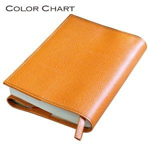 ブックカバー 革 カラーチャート ブックカバー サンセットオレンジ AA2841|nomado1230