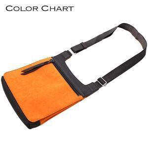 ショルダーバッグ カラーチャート Lサイズ トラベラーズポケット サンセットオレンジ AE15OR|nomado1230
