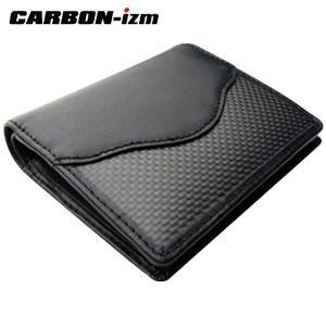 メンズ 2つ折 財布 革 カーボンイズム Arch CBS ウォレットブラック/ブラックステッチ CB100-013|nomado1230