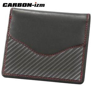 メンズ 2つ折 財布 革 カーボンイズム Arch CBS ウォレット ブラック/レッドステッチ CB100-014|nomado1230