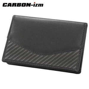 カードケース メンズ 革 カーボンイズム Arch CBL カードケース ブラック/ブラックステッチ CB100-015|nomado1230