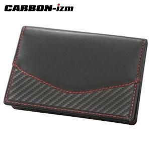 カードケース メンズ 革 カーボンイズム Arch CBL カードケース ブラック/レッドステッチ CB100-016|nomado1230
