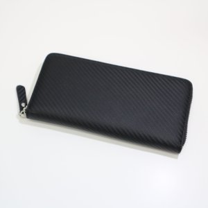 メンズ 長財布 革 カーボンイズム CSL ロングウォレット03 ブラック CB100-019|nomado1230