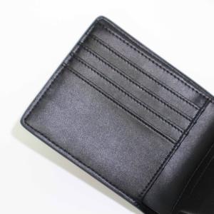メンズ 2つ折 財布 革 カーボンイズム CSL ウォレット02 ブラック/キャメル CB100-022|nomado1230|02