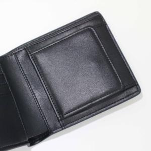 メンズ 2つ折 財布 革 カーボンイズム CSL ウォレット02 ブラック/キャメル CB100-022|nomado1230|03