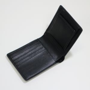メンズ 2つ折 財布 革 カーボンイズム CSL ウォレット02 ブラック/キャメル CB100-022|nomado1230|05