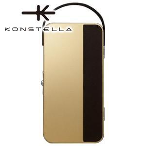 ポーチ 革 名入れ コンステラ(KONSTELLA) ポーチ シャンパンゴールド K-001GD|nomado1230