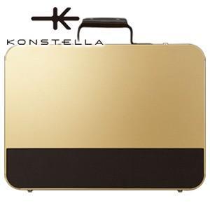 ブリーフケース 革 A4 名入れ コンステラ(KONSTELLA) ブリーフケース シャンパンゴールド K-003GD|nomado1230