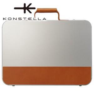 ブリーフケース 革 A4 名入れ コンステラ(KONSTELLA) ブリーフケース シルバー K-003SV|nomado1230
