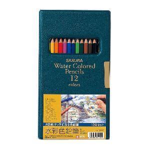 色鉛筆 水彩 セット サクラクレパス 水彩色鉛筆 12色 EPY12|nomado1230