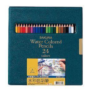色鉛筆 水彩 セット サクラクレパス 水彩色鉛筆 24色 EPY24|nomado1230