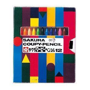 色鉛筆 セット サクラクレパス クーピーペンシル 12色 ソフトケース入り FY12R1|nomado1230