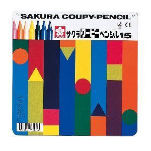 色鉛筆 セット サクラクレパス クーピーペンシル 15色 缶入り FY15|nomado1230