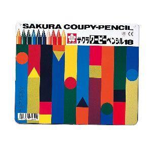 色鉛筆 セット サクラクレパス クーピーペンシル 18色 缶入り FY18|nomado1230