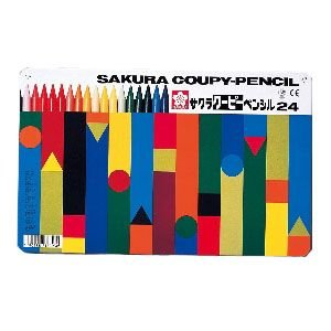 色鉛筆 セット サクラクレパス クーピーペンシル 24色 缶入り FY24|nomado1230