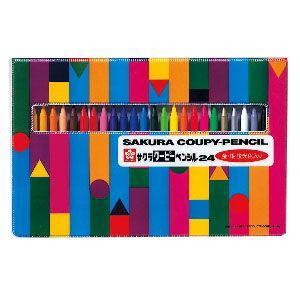 色鉛筆 セット サクラクレパス クーピーペンシル 24色 ソフトケース入り FY24R1|nomado1230