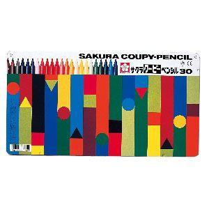色鉛筆 セット サクラクレパス クーピーペンシル 30色 缶入り FY30|nomado1230