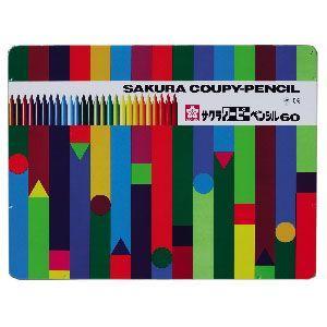 色鉛筆 セット サクラクレパス クーピーペンシル 60色 缶入り FY60|nomado1230