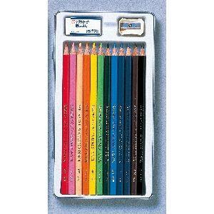 色鉛筆 セット サクラクレパス スタンダード クーピー色鉛筆 12色 缶入り PFY12|nomado1230|02