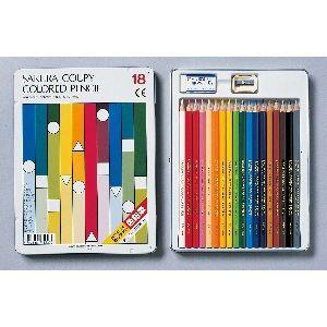 色鉛筆 セット サクラクレパス スタンダード クーピー色鉛筆 18色 缶入り PFY18|nomado1230