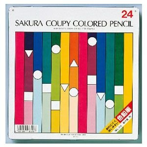 色鉛筆 セット サクラクレパス スタンダード クーピー色鉛筆 24色 缶入り PFY24|nomado1230