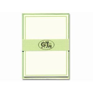 ジョルジュラロ 縁取りカード セット 5個セット グリーン GL32603|nomado1230