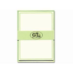 カード ジョルジュラロ 縁取りカード セット 10個セット グリーン GL32603S|nomado1230