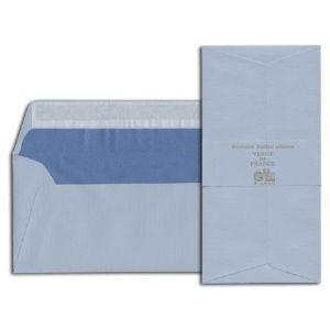 封筒 ジョルジュラロ ヴェルジェ・ド・フランス フラット フラップタイプ 封筒 5個セット ブルー No. 46102|nomado1230