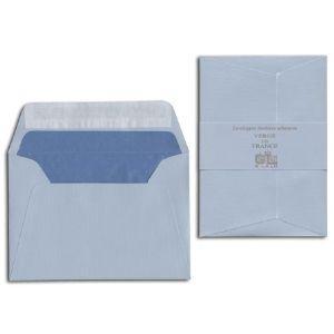 封筒 ジョルジュラロ ヴェルジェ・ド・フランス フラット フラップタイプ 封筒 5個セット ブルー No. 52102|nomado1230