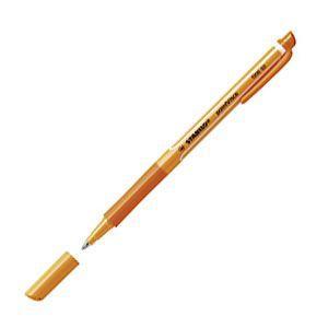 ローラーボール スタビロ ポイントビスコ ゲルローラーボールペン 10本セット オレンジ 1099-54|nomado1230