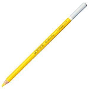 パステル色鉛筆 水彩 スタビロ カーブオテロ 水彩パステル色鉛筆 4.4ミリ 単色 12本セット ナチュラルイエロー 1400-205|nomado1230