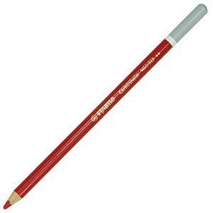 スタビロ カーブオテロ 水彩パステル色鉛筆 4.4ミリ 単色 12本セット カーマインレッドディープ 1400-325|nomado1230