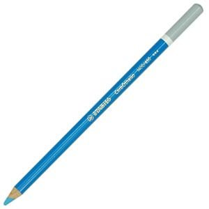 パステル色鉛筆 水彩 スタビロ カーブオテロ 水彩パステル色鉛筆 4.4ミリ 単色 12本セット シアンブルー 1400-450|nomado1230