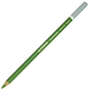 スタビロ カーブオテロ 水彩パステル色鉛筆 4.4ミリ 単色 12本セット リーフグリーン 1400-575 nomado1230