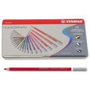色鉛筆 セット スタビロ カーブオテロ パステル 色鉛筆 12色セット メタルケース入り 1412-6 nomado1230