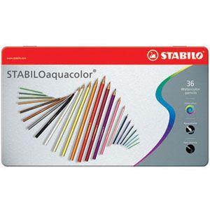 色鉛筆 スタビロ アクアカラー 軟質芯 水彩色鉛筆 36色セット メタルケース入り 1636-5|nomado1230
